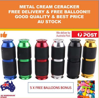 Nang Cracker Cream Whipper Dispenser 8G Charger With Rubber Grip FREE BONUS AUS