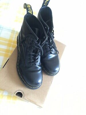 Dr Martens Black Leather Made In England Ankle Boots Sz 5 Uk 38 Eu Vgc