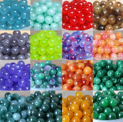 8mm DIY Gemstone Natural Stone Round Loose Beads lot Wholesale Jewelry Making