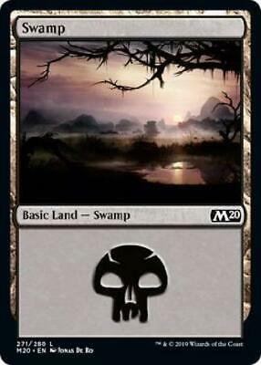 1x FOIL Swamp #271 Christine Choi art Near Mint Magic basic land Core Set 2019 Magic: The Gathering, MTG) Verzamelingen