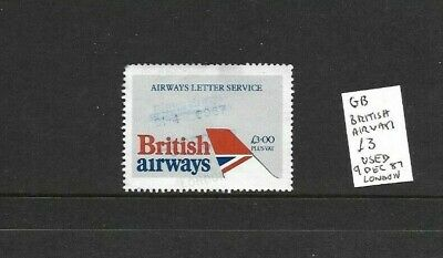 GB British Airways Letter Service £3 used