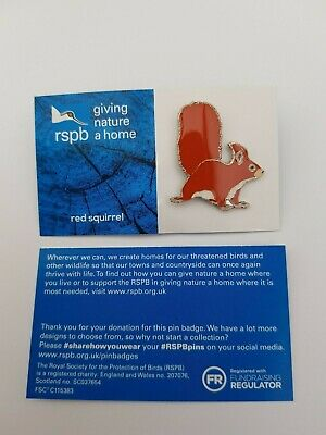 RSPB Pin Badge | red squirrel | GNAH BLUE [01541]