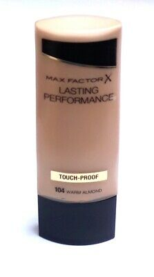 Max Factor Lasting Performance Foundation 104 Warm Almond Touch Proof