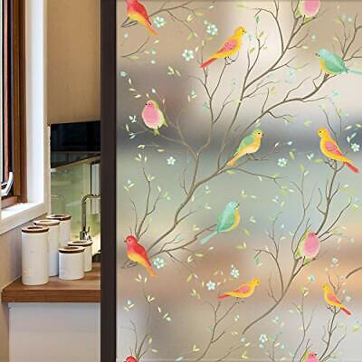 Lifetree Privacy Window Film Frosted Glass Film Stained Glass Film Static Cli...