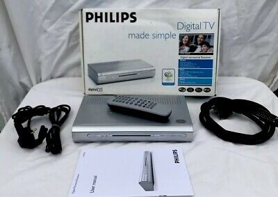 Philips Dtr 320/05 Digital Terrestrial Receiver Freeview Set Top Box C/W Remote
