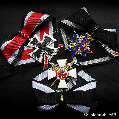German Medals Set Knights Cross , Pour Le Merite & Red Eagle Repro