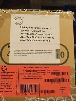 Bugaboo Stroller car seat adaptor for Graco Snugride and Infant Safeseat