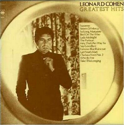 Leonard Cohen Greatest Hits CD NEW Suzanne/Bird On The Wire/Sisters Of Mercy+