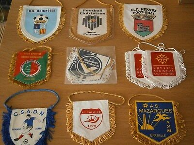 Lot de 10 Fanions Football Divers France