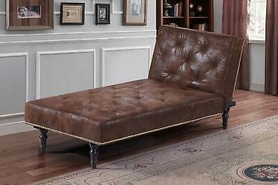 Vintage Victorian Antique Style Chaise Longue Sofa Bed