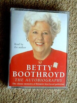 Betty Boothroyd - The Autobiography     - Audio Books -    ( 2 Cassettes )