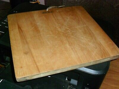 Vintage Wood Cutting Board Square 12X13 Hefty Vermont Made Guc Good To Go