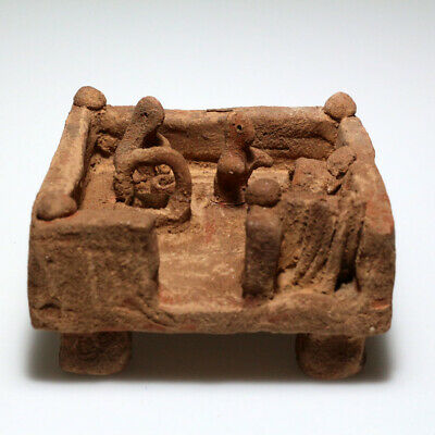Very Interest & Unusual Near East Terracotta Ornament Depicting Culture Ca 700-