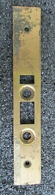 """Antique Commercial Grade Solid Brass Mortise Lock Set Strike Plate Latch 8"""""""
