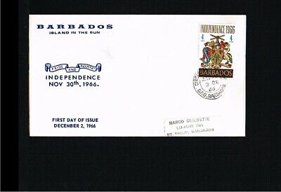 [EG014] 1966 - Barbados FDC - History - Independency