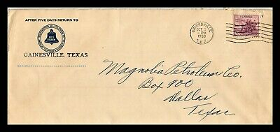 Dr Jim Stamps Us Gainesville Texas Southwestern Bell Telephone Legal Size Cover