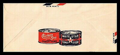 Dr Jim Stamps Us Tuna Cans Illustrated Advertising Legal Cover Air Mail Unused