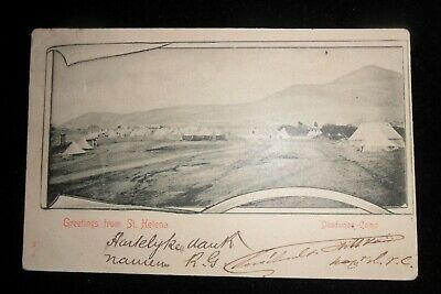 Boer War  St Helena  Censored Pow  Post Card To Holland