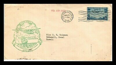 Dr Jim Stamps Us San Francisco Fam 14 First Flight Air Mail Cover Backstamps