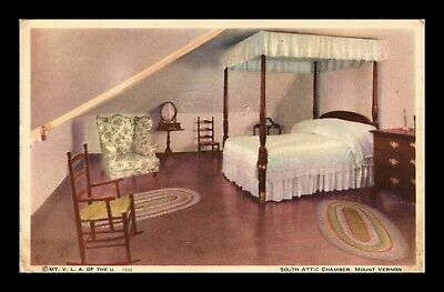 Dr Jim Stamps Us South Attic Chamber Mt Vernon Virginia Postcard