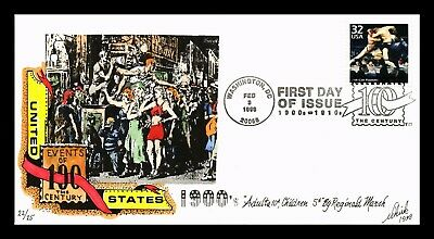 Dr Jim Stamps Us Hand Colored Ash Can Painters Celebrate Century Fdc Cover