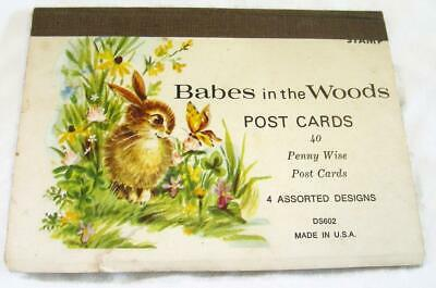 Vintage Penny Wise Post Cards Babes in the Woods - 15 - Penpal - Fox Deer Fawn