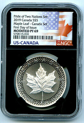 2019 Canada Rcm Version Pride Of Two Nations Ngc Pf69 Maple Leaf First Day Issue