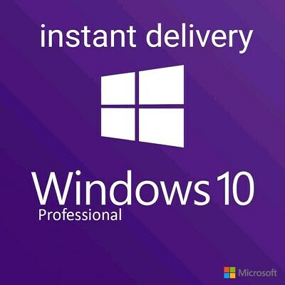 Windows 10 Pro Professional 32/64 Bit Code License Key Activation instant
