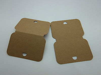 50 Large Necklace / Bracelet Display Cards Brown Recycled Card 82 mm x 115 mm