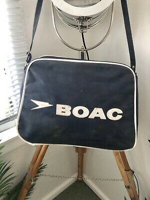 VINTAGE Retro AIRLINE BAG Collection 60's 70's BOAC Long Handle BRITISH AIRWAYS