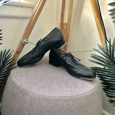 Mens Size 8 BLOCH Black TAP SHOES LEATHER Low