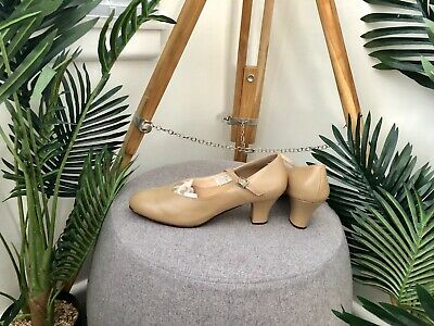 27cm INNERSOLE Womens Size 10 ENERGETIKS Beige Tan CHORUS or TAP SHOES Ladies