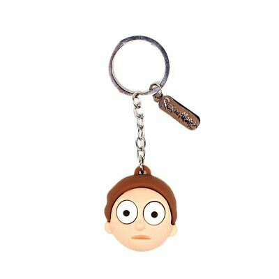 Rick and Morty 3D Morty Face Rubber Keyring Keychain - Boxed Adult Swim
