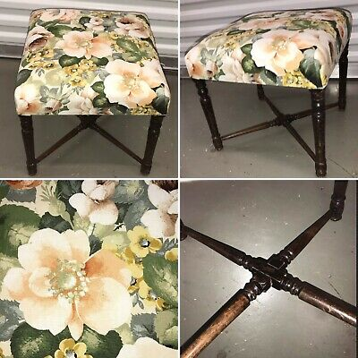 Vintage Square Piano Dressing Table Stool Seat Chair 3