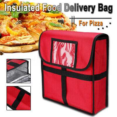 Pizza Food Delivery Bag Thick Insulated Holds up to 12'' Pizzas Boxes Red