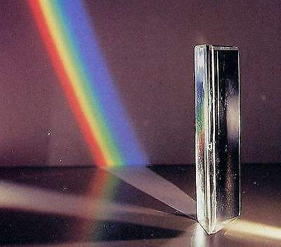 Optical glass equilateral triangular prism for teaching or photography