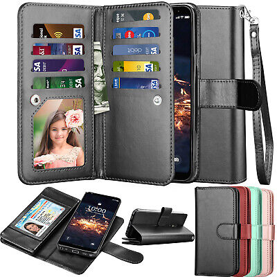 For LG Stylo 4 / Stylo 5 Wallet Leather Phone Case Flip Holder Protective Cover