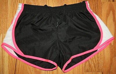 90 Degree By Reflex Girls Running Shorts Size Medium 10 Black Excellent Cond
