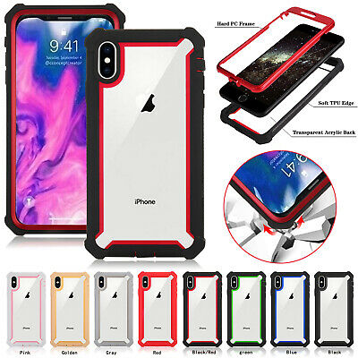 For iPhone 11 Pro X XR XS MAX 6 7 8 Plus Hybrid Clear Case Shockproof Heavy Duty