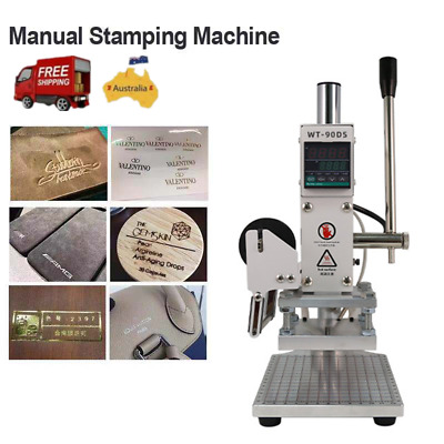 Hot Foil Stamping Machine Leather Wooden Bronzing Machine Machine W/ Foil papaer