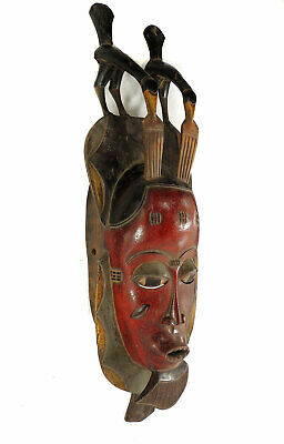 Guro Yaure Portrait Mask Birds Cote d'Ivoire African Art SALE WAS $250.00