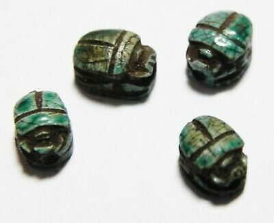 Zurqieh -As13283-  Ancient Egypt. Lot Of Four Stone Scarabs. 1400-1200 B.c