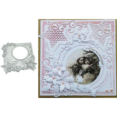 Star Circle Frame Metal Cutting Dies Scrapbooking Paper Cards Photo Stencil Diy