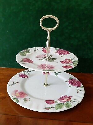 Roy Kirkham 'Rose Du Temps' Two Tiered Cake Stand.