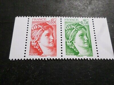 FRANCE SALON AUTOMNE 2017 PAIRE timbres SABINE 40 ANS, neufs**, VF MNH STAMPS