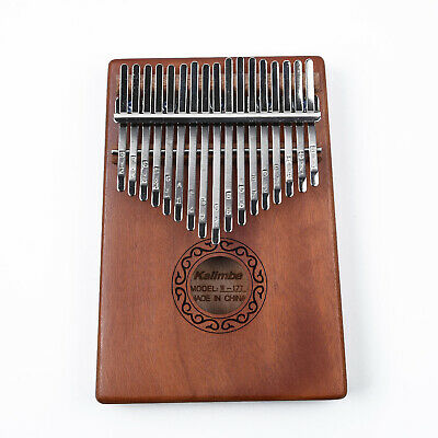 17 Key Kalimba Single Board Mahogany Thumb Piano Mbira Mini Painting Instrument