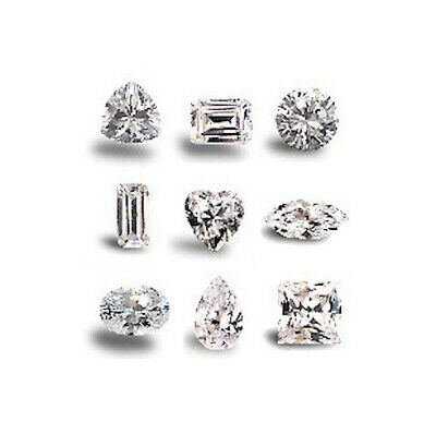 White/Clear Loose Cubic Zirconia, cut and size choice, crystals, beads, CZ