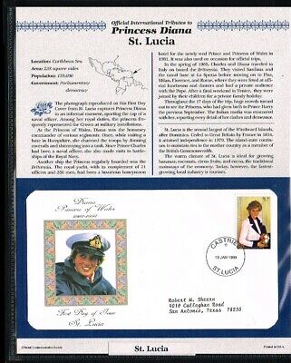 [PB07_50] 1998 - St. Lucia FDC - Famous People - Royalty - Tribute to Princess D