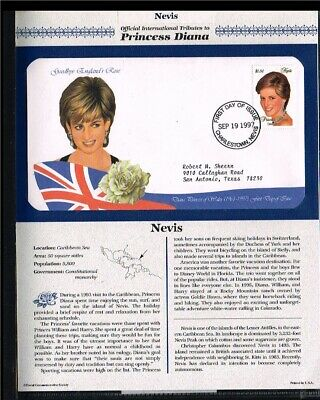 [PB07_57] 1997 - Nevis FDC - Famous People - Royalty - Tribute to Princess Diana
