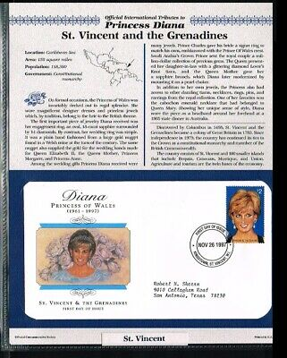 [PB07_44] 1997 - St.Vincent and the Grenadines FDC - Famous People - Royalty - T